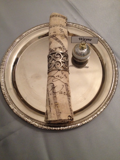 Here's a Christmas napkin ring holder. I just had to add the little name tag in, because it's adorable.