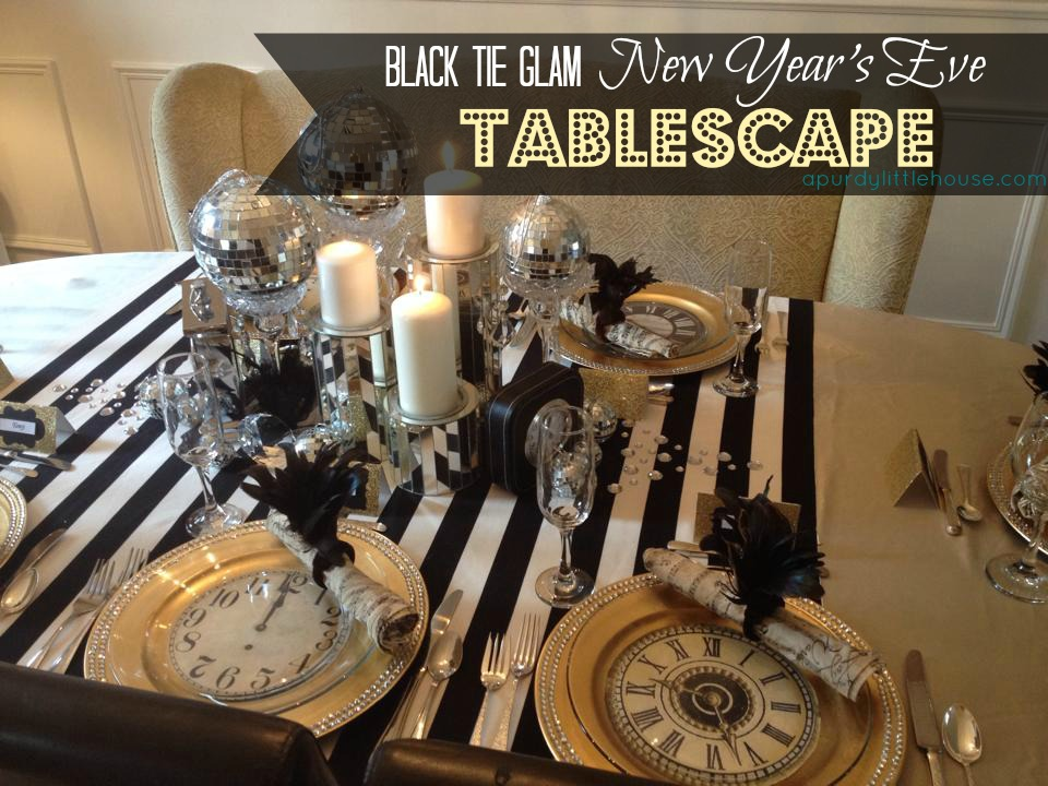 New Years Eve Tablescape A Purdy Little House
