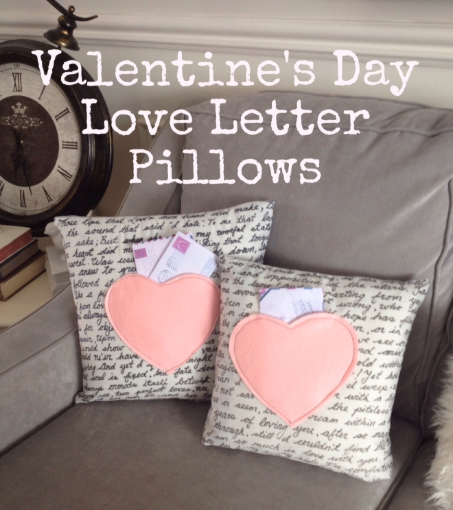 Sweet Valentines Day Love Letter Cushions  a purdy little house