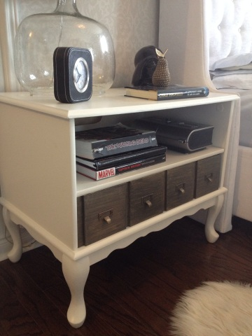 DIY apothecary nightstand,How to transform a typical night dtand into a unique apothecary inspied piece, apurdylittlehouse.com