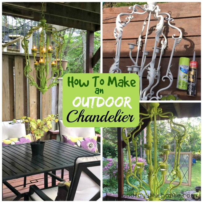 How to make an outdoor chandelier