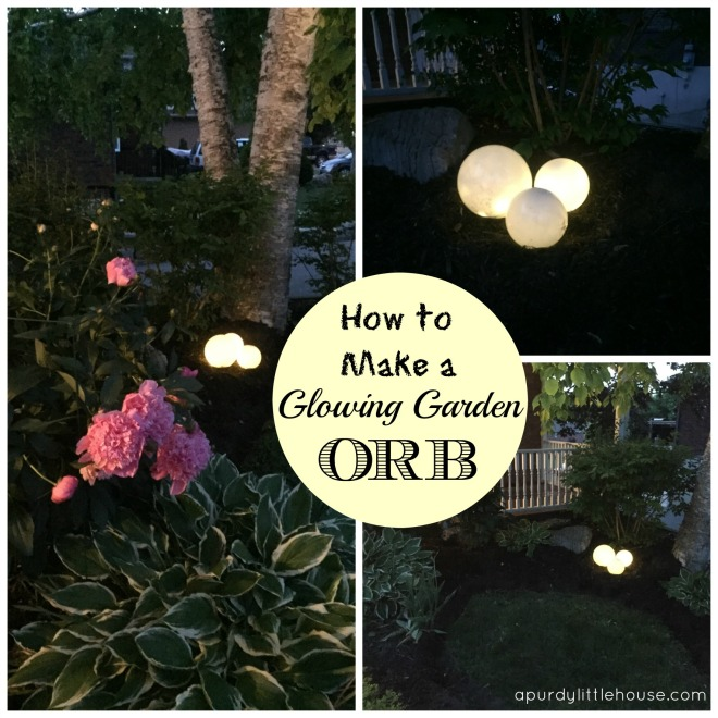 Glowing Garden Orbs a purdy little house
