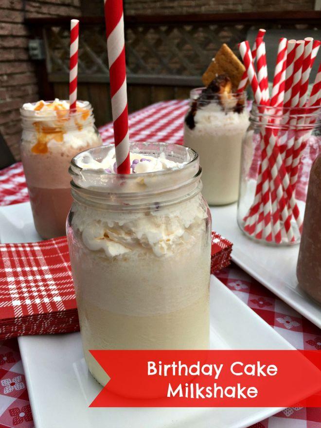 birthday cake milkshake