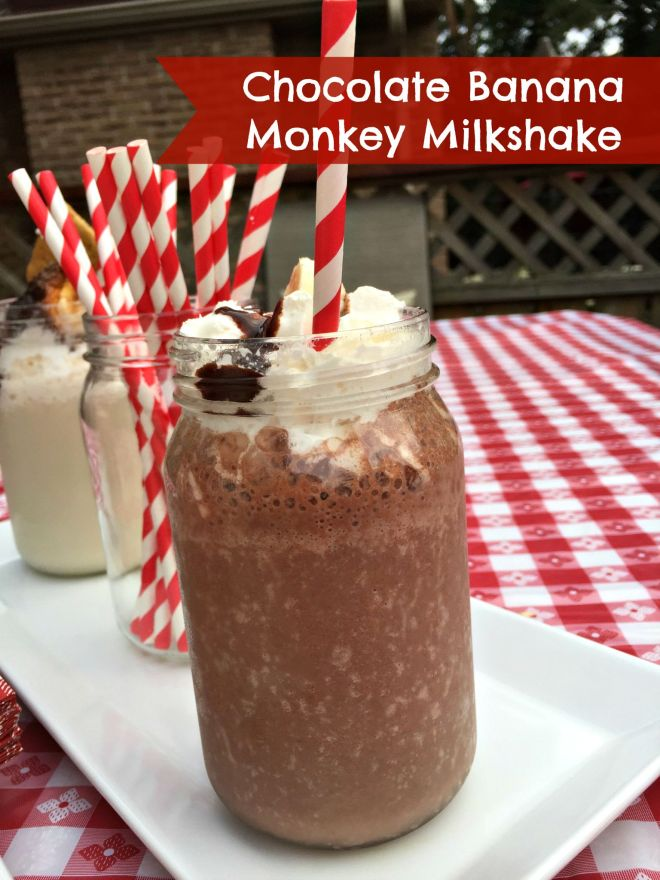 chocolate banana monkey milkshake