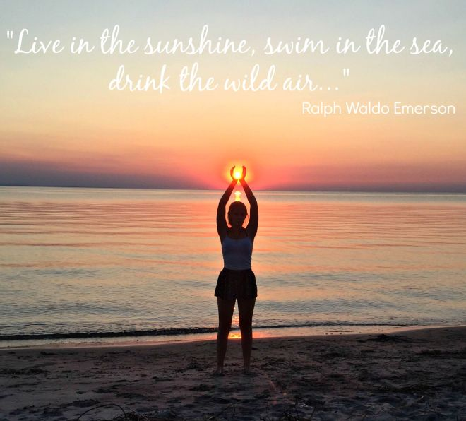 cottage sunset quote