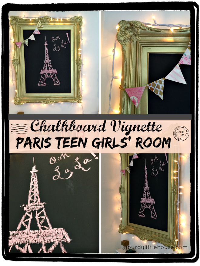 Paris room chalkboard