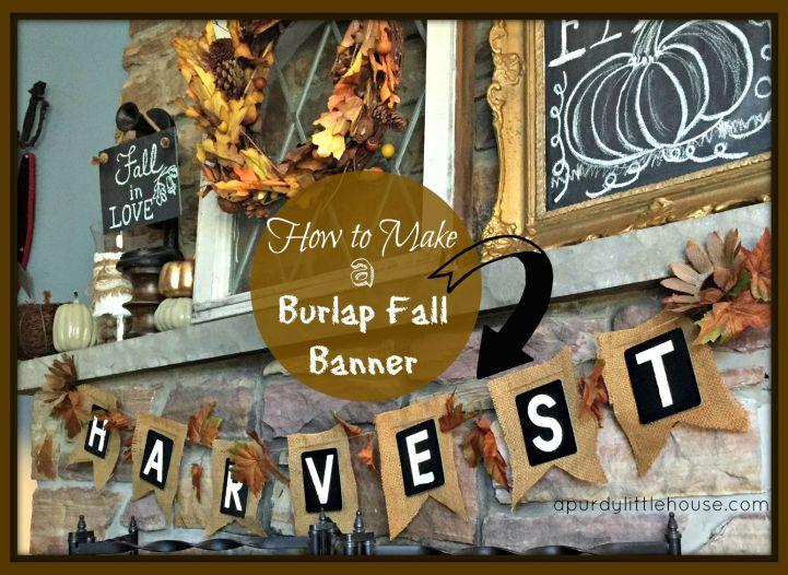 burlap fall banner