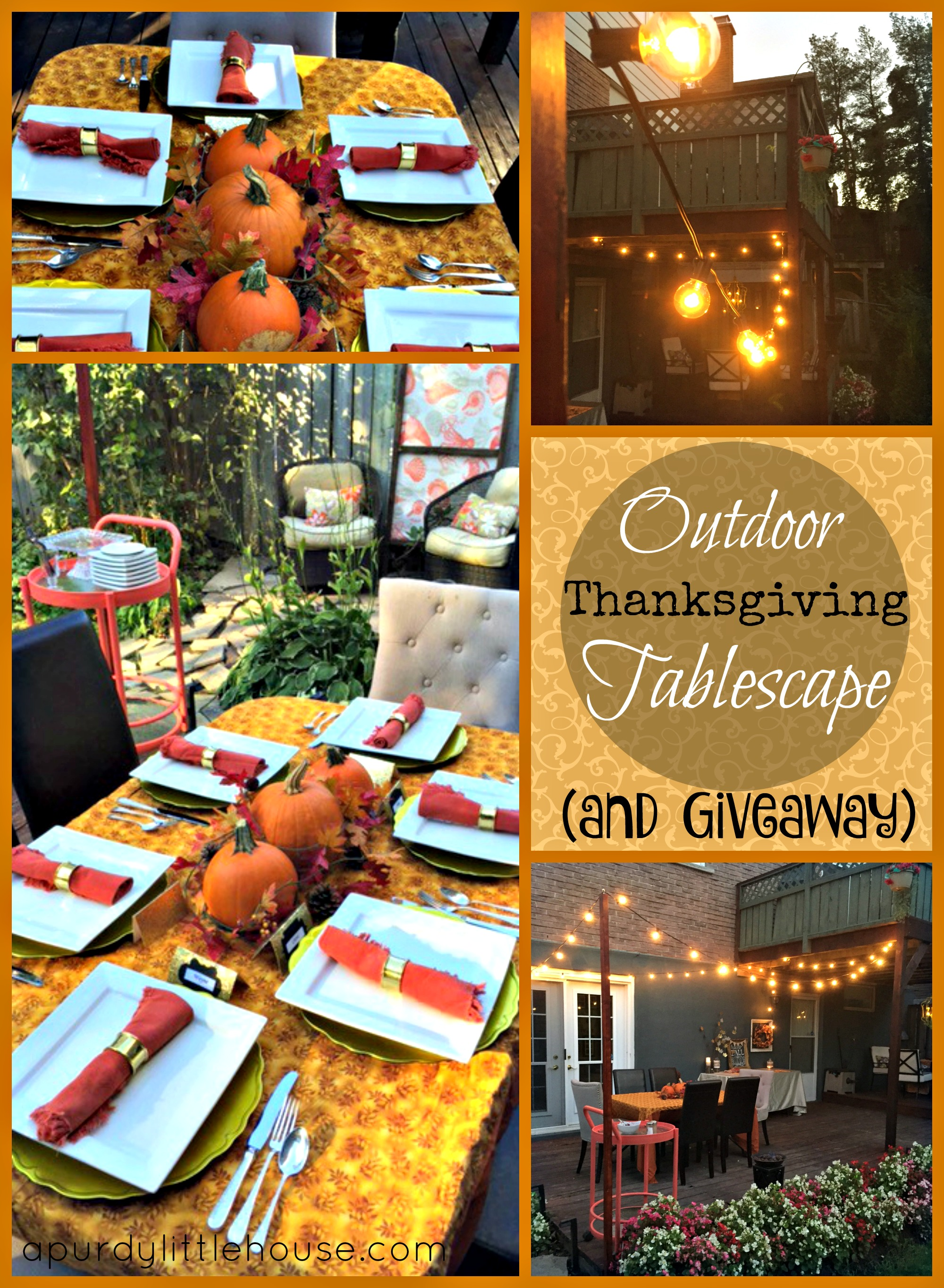 Outdoor Thanksgiving Tablescape